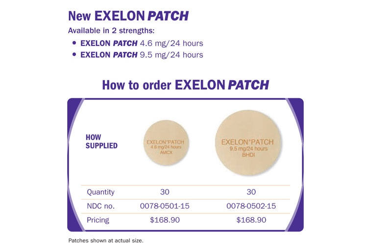 Exelon patch dosing